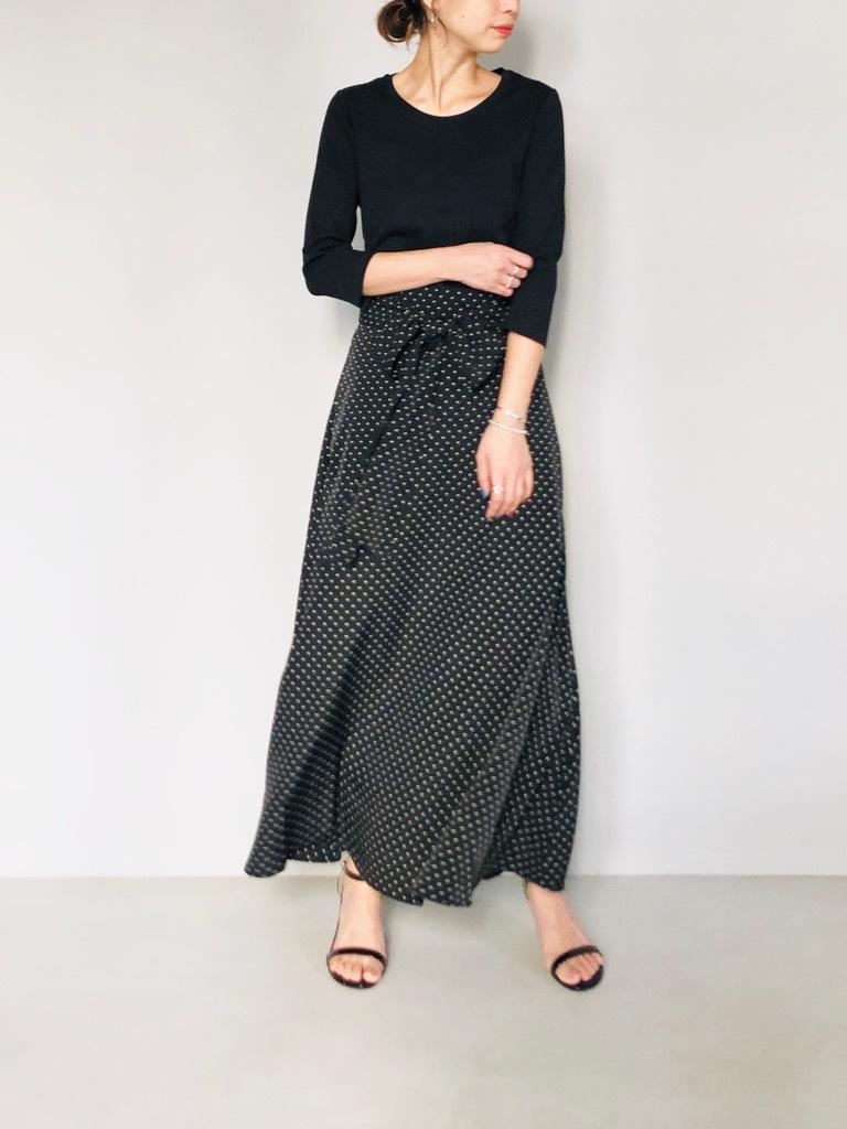 SELECT(セレクト)  ウエストリボンセミフレアーロングスカート