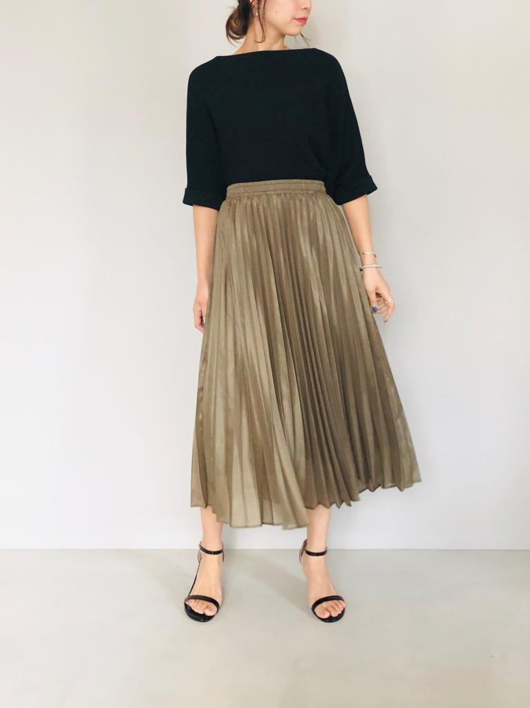 SELECT(セレクト)  シャイニーオーガンジープリーツスカート