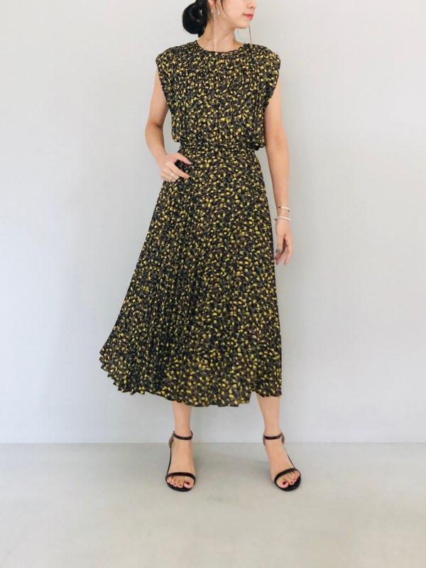 SELECT(セレクト)  カラーペイントミックスプリーツスカート