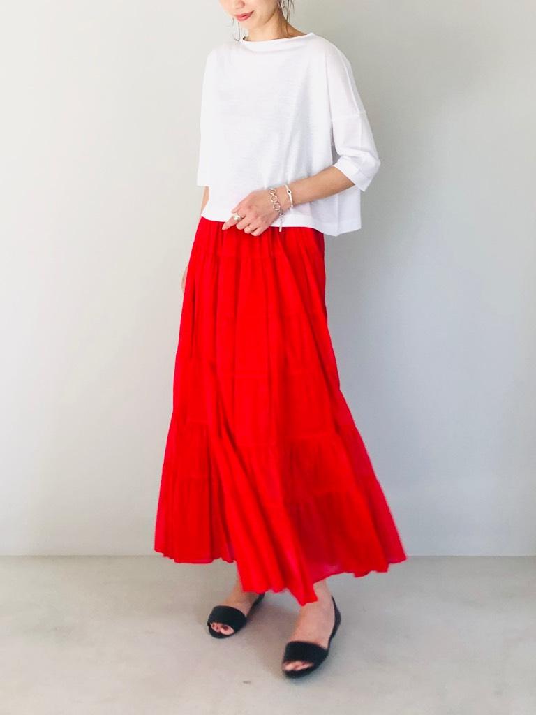 SELECT(セレクト)  ティアードロングスカート