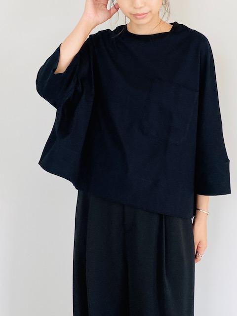 SELECT(セレクト)  ワイドシルエット ポケット付 七分袖Tシャツ
