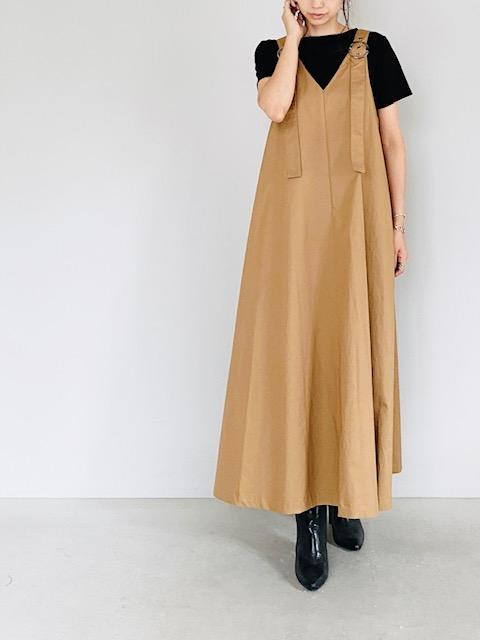SELECT(セレクト)  テントラインリングベルトジャンバースカート CAMEL