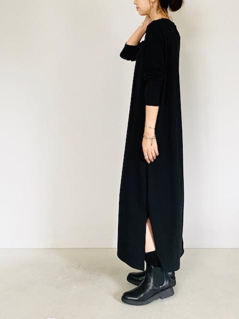 SELECT(セレクト)  長袖とろみカットソーロングワンピース(UVカット素材)