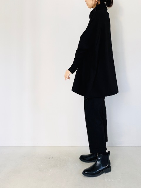 SELECT (セレクト)  ハイネックワイド裾ドロストプルオーバー