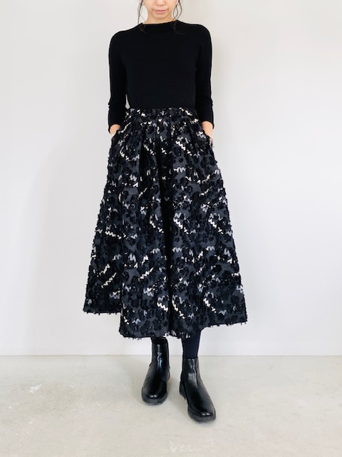 SELECT (セレクト)  ジャガードタックフレアースカート
