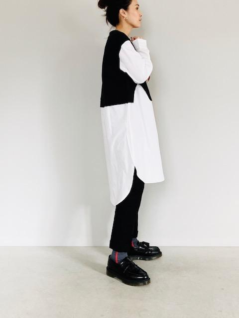 SELECT (セレクト)  ニットソー×布帛ドッキングシャツOP