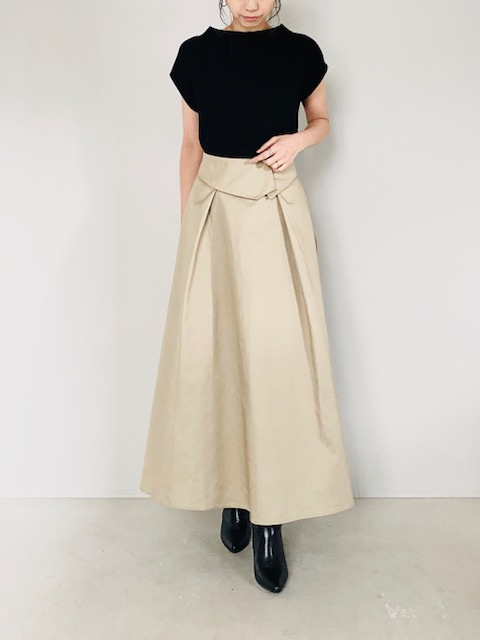 SELECT(セレクト)  ベルト風デザインフレアスカート